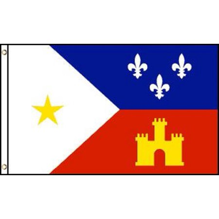 3x5 Acadiana Flag French Louisiana Banner Cajun Pennant Indoor Outdoor New - Outdoor Pennant Banner