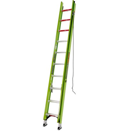 - Little Giant HyperLite, 16' - Type IA - 300 lbs rated, fiberglass extension ladder
