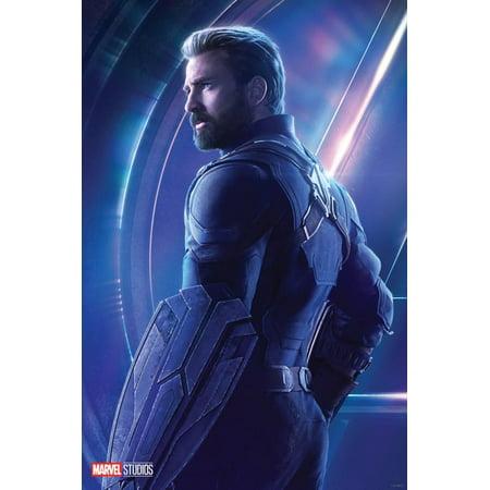 avengers: infinity war - steve rogers, captain america poster