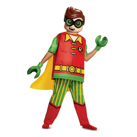 Lego Batman Movie Robin Deluxe Child Costume - Batman And Robin Halloween Costumes For Adults