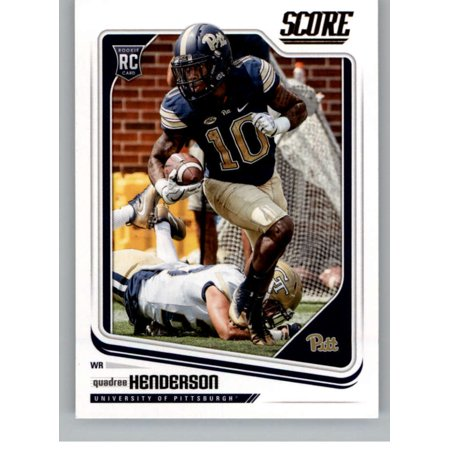 2018 Score #405 Quadree Henderson Pittsburgh Panthers Football Card