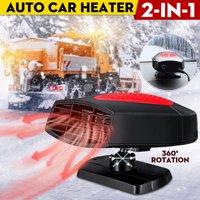 12V 150W 2 in 1 Auto Car Heater Cooler Dryer Fan Portable Defroster Demister Warmer
