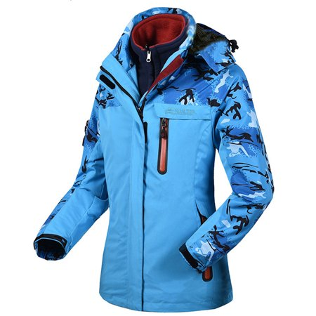 (Toponeto) Women's Winter Two Piece Set Camouflage Waterproof Windproof Outdoor Sport Coat thumbnail