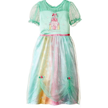 Girls Dream Castle Dressy Gown, Fancy Nightgown Sizes 4-8
