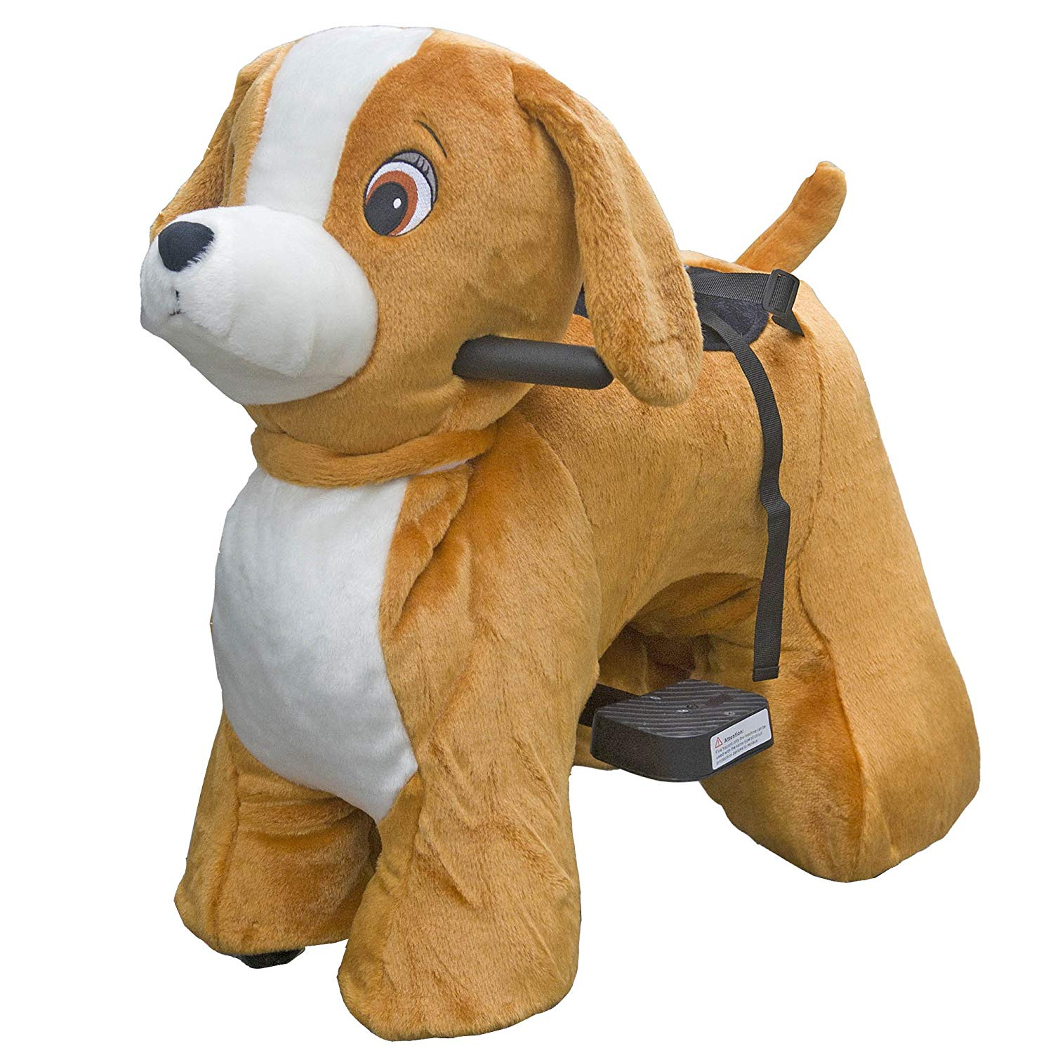 Rechargeable 6V 7A Plush Animal Ride On Toy for Kids (3 ~ 7 Years Old) With Safety Belt Dog by HOVERHEART