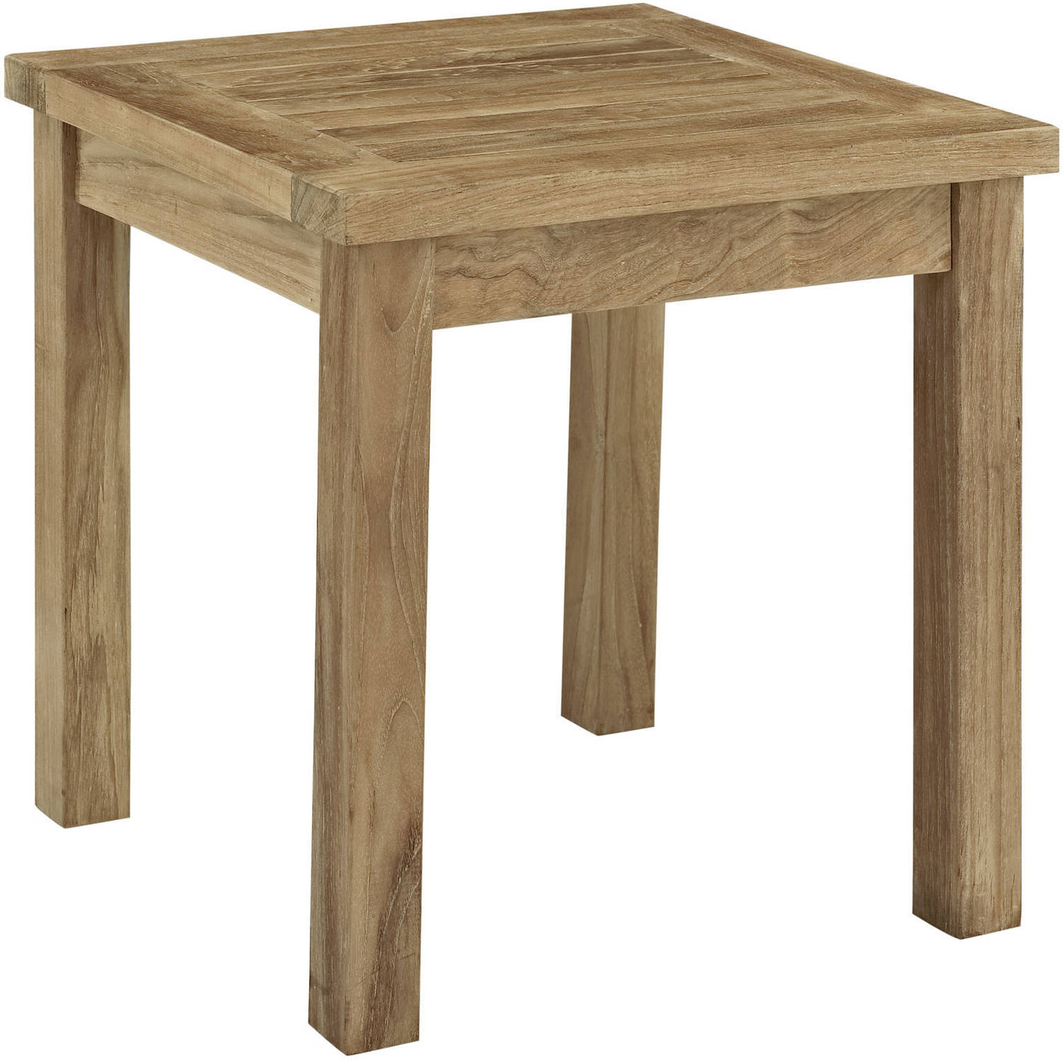 Modway Marina Outdoor Patio Teak Side Table, Natural by Modway