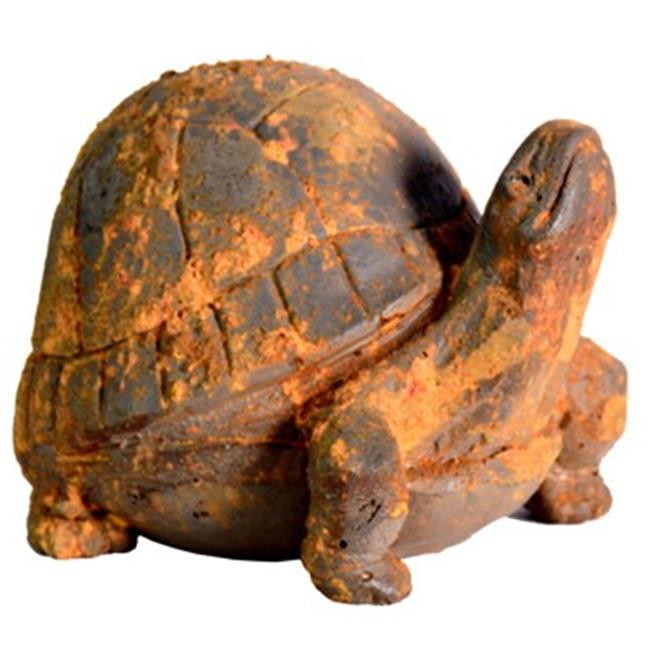 Michael Carr Designs MCD200154RUST Liconfiber Statue, Rusty Turtle - 10 in.