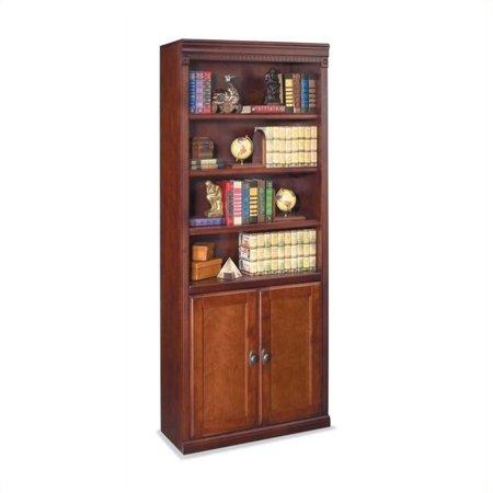 Kathy Ireland Home By Martin Huntington Club 6 Shelf Wood Bookcase In Vibrant Cherry