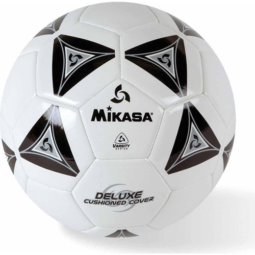 Mikasa Soft Soccer Ball, Size 3, Black/White