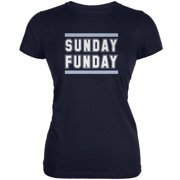 Sunday Funday Tennessee Navy Juniors Soft T-Shirt - Large