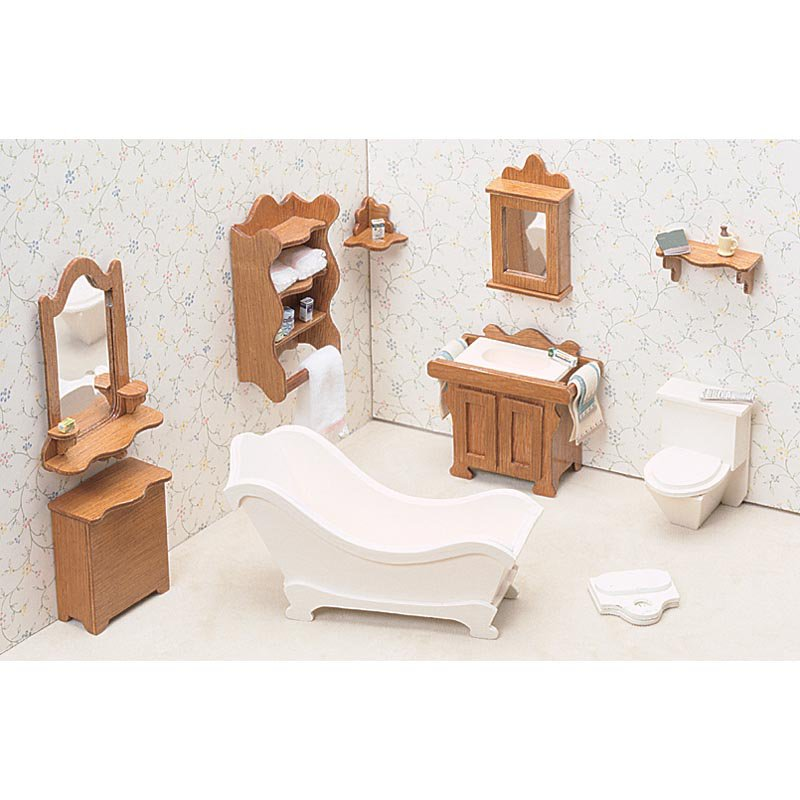 Greenleaf Bathroom Furniture Kit Set - 1 Inch Scale