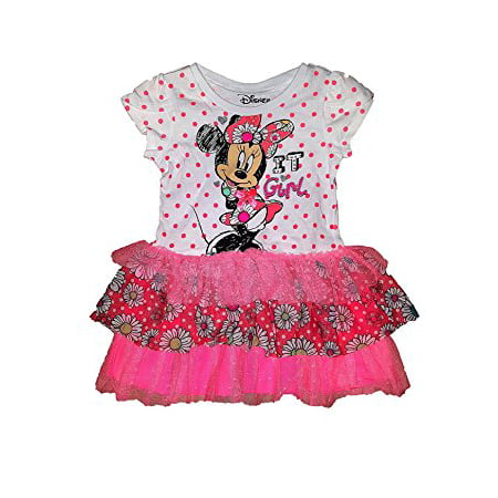 [P] Disney Toddler Girls' Minnie Mouse It Girl Dress With Flounce 2T (Minnie Mouse Fancy Dress For Adults)