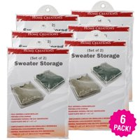 innovative Home Creations Sweater Storage Bags 2 Count, Multipack Of 6