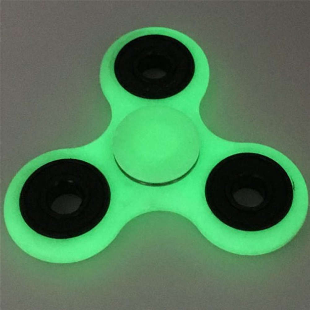 Glow in the Dark Hand Spinner Finger Tri Fidget Focus Tool Desk Stuffer Toy New