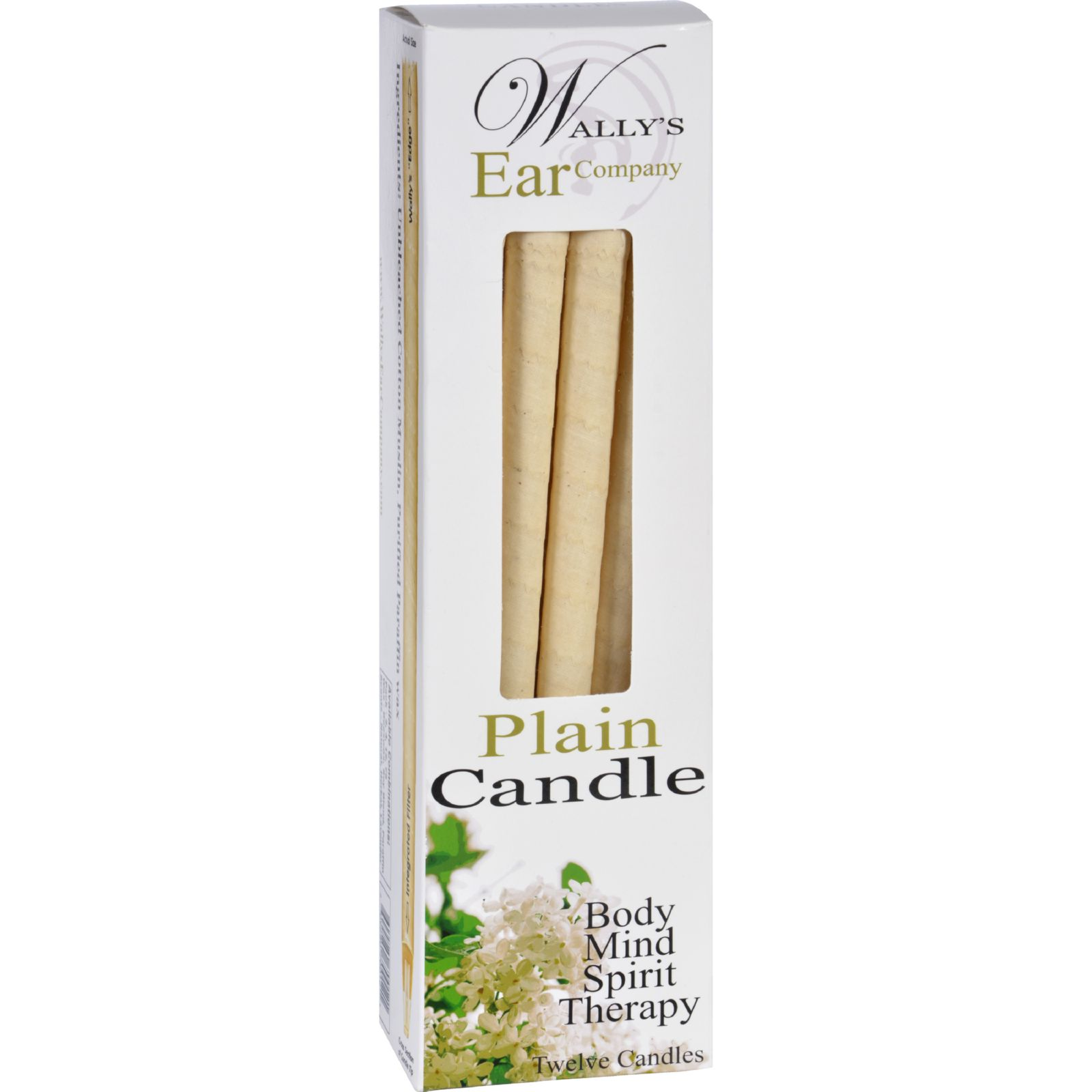 Wally's Candle Plain 12 Candles by Wally'S Natural Products