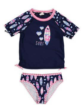 Tommy Bahama Rashguard Two-Piece Swimsuit Girls 4-6X