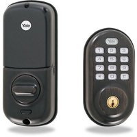 YALE REAL LIVING YRD216ZW10BP Electronic Keyless Deadbolt,Z-wave,Brnze