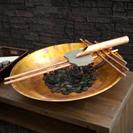 Nayer Kazemi Water Art Copper Zen Nature Bowl Tabletop Fountain