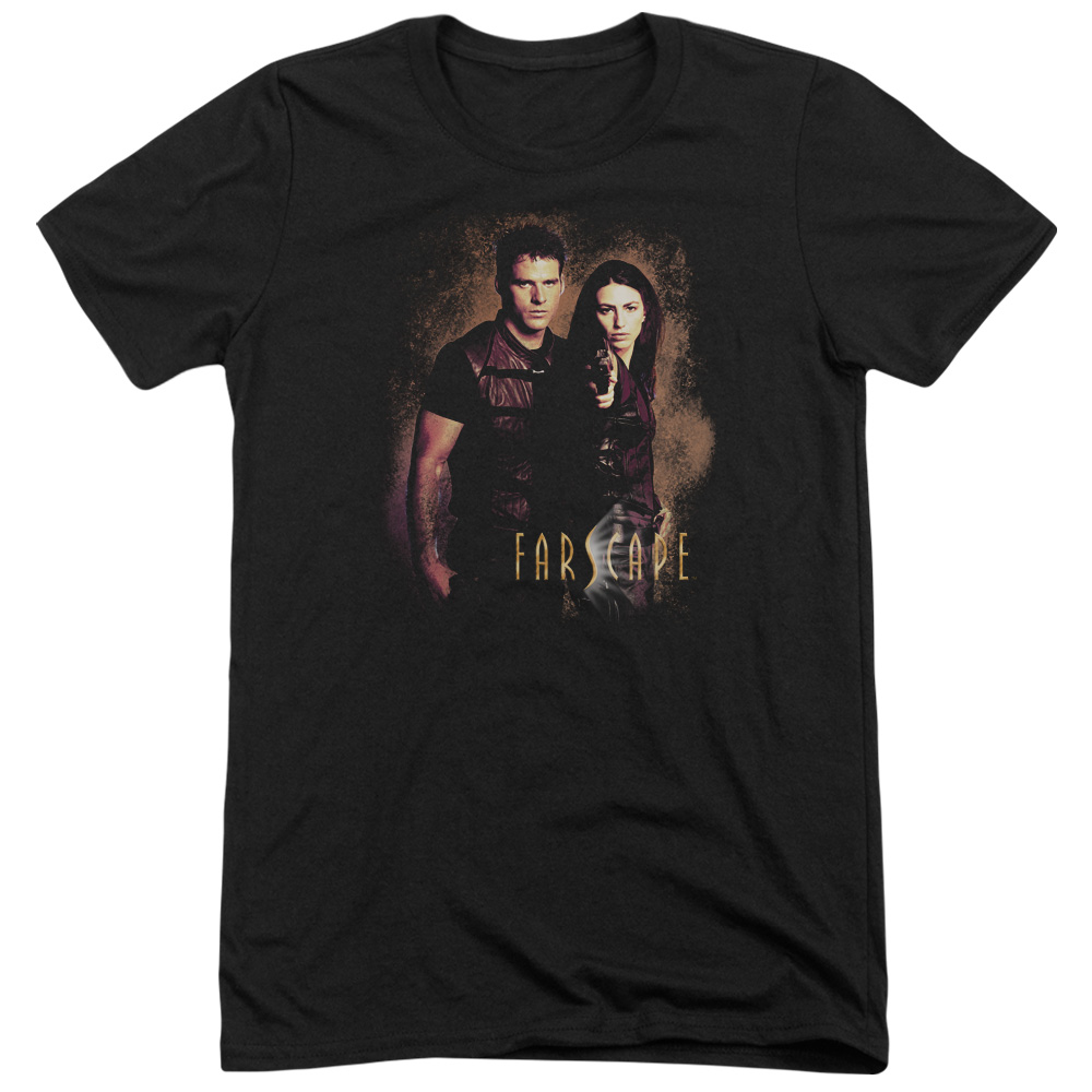 Farscape Wanted Mens Tri-Blend Short Sleeve Shirt
