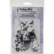 """IndigoBlu Cling Mounted Stamp, 5"""" x 4"""", Blues Look Out"""