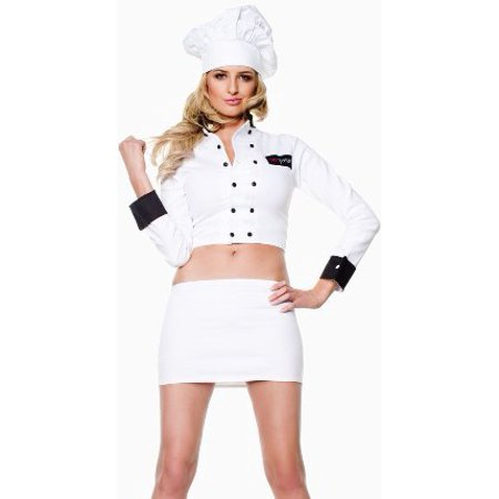 Sexy Top Chef Uniform Adult Halloween Cook Costume for $<!---->