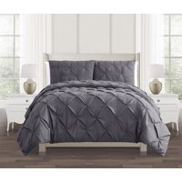 Pinch Pleat 2-3 Piece Duvet Cover Set, Multiple Colors and Sizes
