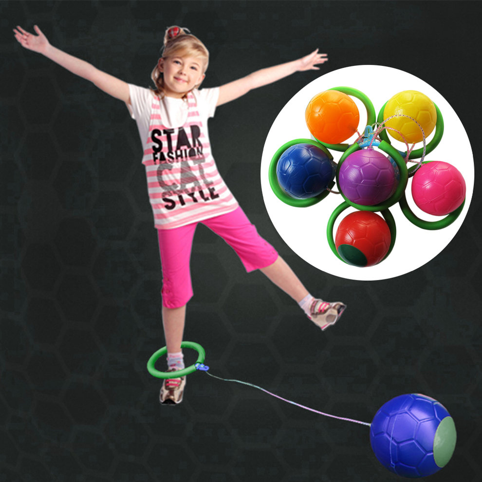 New Popular 6 Colors Skip Ball Outdoor Fun Toy Balls Classical Skipping Toy Fitness Equipment Toy Encourage Children to... by