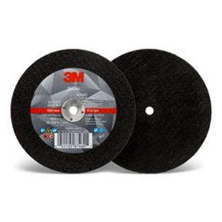 3M 405 05112 587460 Silver Type 1 Cut Off Wheel Black 4 x 0 035 x 0 25