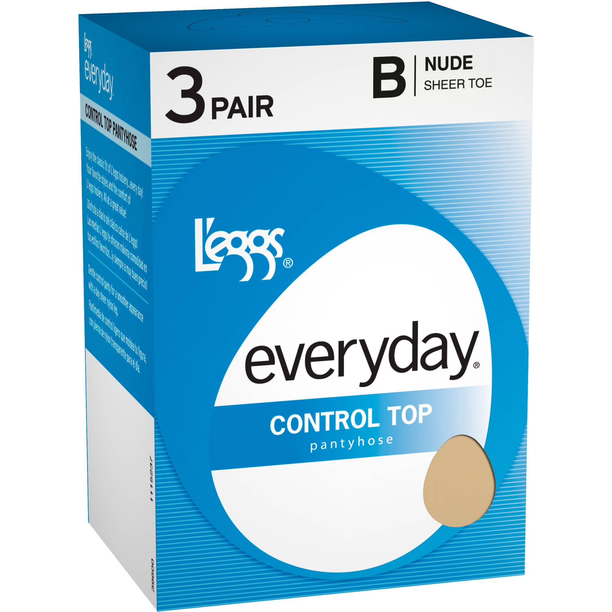 L'eggs Everyday Women's Control Top Sheer Pantyhose 3-Pair ...