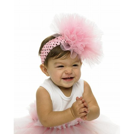 Baby Girls Headband Fancy Tulle Puff Headband fits 1-3 -