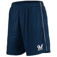 Milwaukee Brewers Majestic Mesh Shorts - Navy