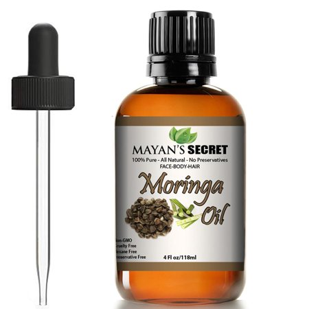 Moringa Energy Oil 100% Pure Moringa Seed Oil from Cold Pressed Rejuvenate Dull Skin - Great for Hair and Face, Botanical Anti-aging Beauty - Great for Cuts, Rashes, Burns - Pure, Undilute
