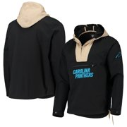Carolina Panthers G-III Sports by Carl Banks Expedition Anorak Half-Zip Pullover Jacket - Black/Khaki