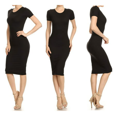 1 Womens Fashion Bodycon Dress Party Cocktail Casual Evening Short Sleeve S M