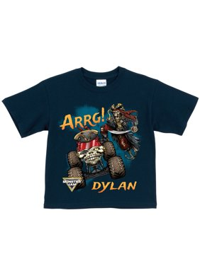 Personalized Monster Jam Pirate's Curse Navy T-Shirt, Youth, Navy