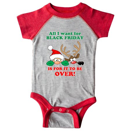 All I want for Black Friday is for it to be OVER!HIding Santa and Rudolph Infant Creeper