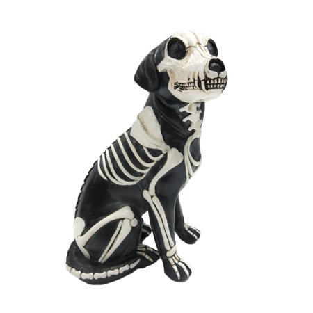Day of the Dead Dog Barking Dia De Los Muertos Dog Sugar Skull Dog Halloween Decoration Day of the Dead Decor 7.5 inch Tall