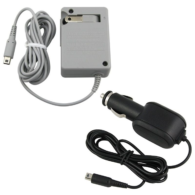 Insten Car + AC Home Wall Travel Charger For New NINTENDO 3DS / 3DS XL LL / DSi / DSi LL / XL / New 2DS XL / New 3DS XL