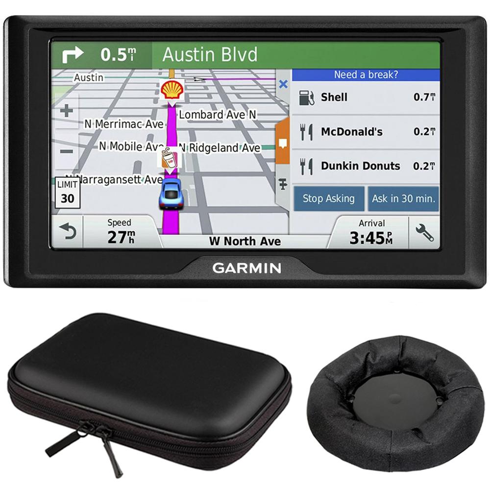 Drive 60LM GPS Navigator (US) - 010-01533-0C Mount & Case Bundle with GPS, Universal GPS Navigation Dash-Mount and PocketPro XL Hardshell Case Bundle