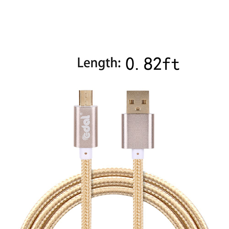 Sawpy Micro USB Mobile Phone Charging Cables Universal USB Nylon Data Cable For Android Smart Phones