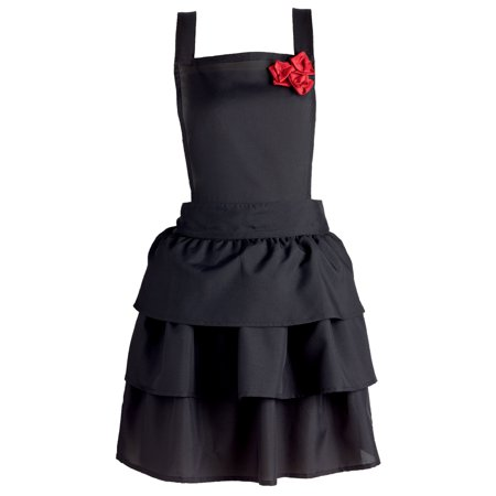 - DII Ruffles & Red Roses Vintage Kitchen Apron, 18
