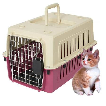 KARMAS PRODUCT Heavy Duty Portable Kennel Plastic Cat & Dog Carrier Cage Airline