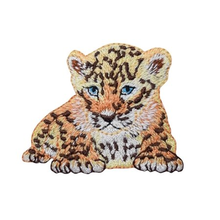 Cheetah Cub - Laying Down - Iron on Applique Patch/ Embroidered Patch