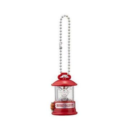 One Piece Lantern Mascot Strap Keychain - Monkey D. Luffy Clear - Monkey Mascot