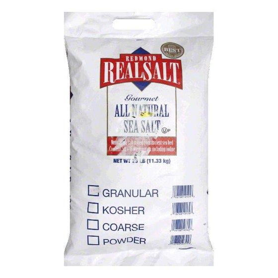 Real Salt Bulk Granular, 25 LB
