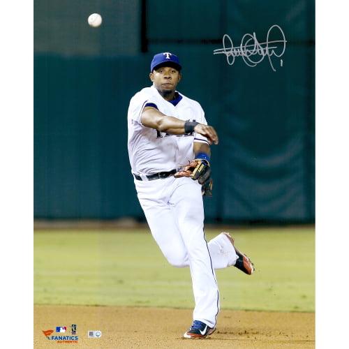 "Elvis Andrus Texas Rangers Fanatics Authentic Autographed 16"" x 20"" Throw Ball Photograph - No Size"