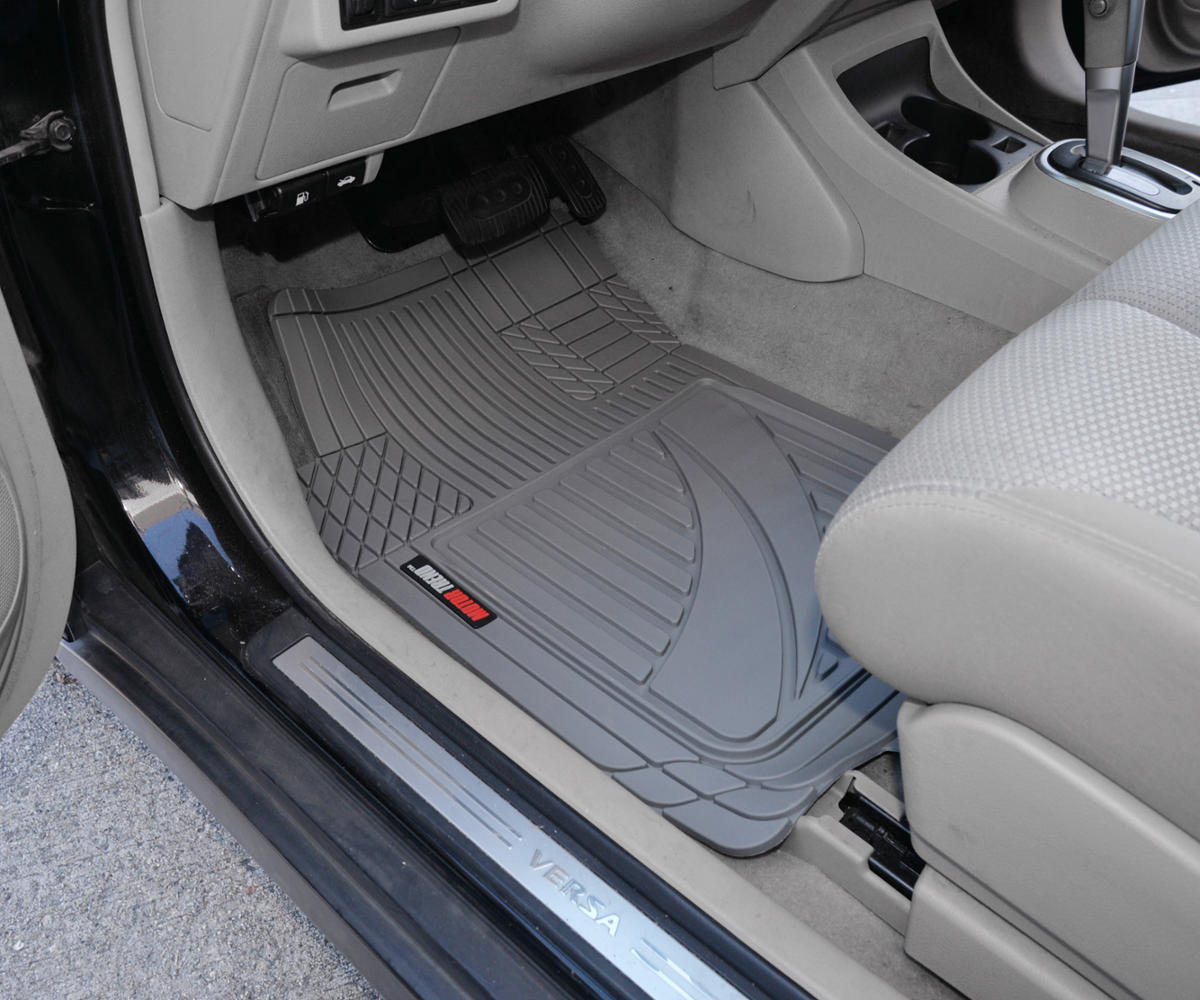Motor Trend FlexTough Advanced Performance Liners 4pc HD Rubber Floor Mats /& Cargo Liner for Car SUV Auto