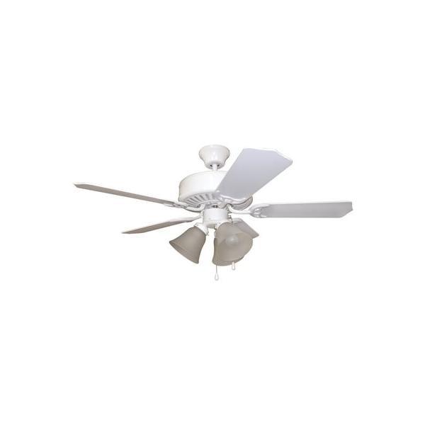 Bala 42 In. White Dual-Mount Ceiling Fan With 3 Tulip Light Kit 2477946 by BALA