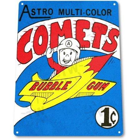 TIN SIGN B702 Astro Comets Bubble Gum Chewing Gum Retro Food Candy Metal Decor Retro, By Tinworld](Retro Candy)