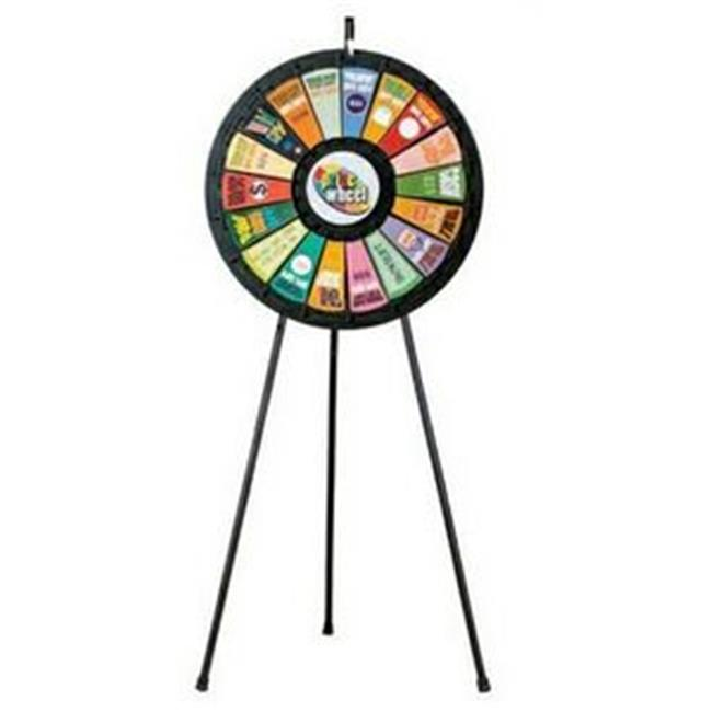 Games People Play 63009 18 Slot Black Floor Stand Prize Wheel Game 31 inch Diameter